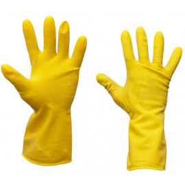 2 Pairs of Rubber Gloves | Medium Yellow Washing up Gloves | Household Cleaning Gloves
