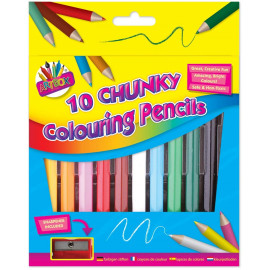1/2 Size Chunky Colouring Pencil (Pack of 10)