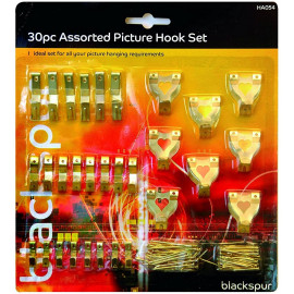 30 Piece Assorted Picture Hook Set