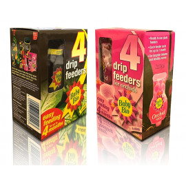 2 Packs of 4 Baby Bio Drip Feeders Original & Orchid together