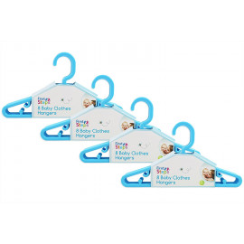 Baby Coat Hangers Small Clothes Hangers Pack of 32 Blue