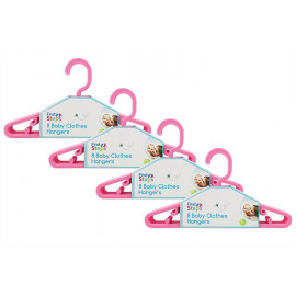 Baby Coat Hangers Small Clothes Hangers Pack of 32 Pink