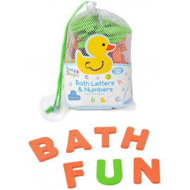 62 pcs Bath Foam Letters Numbers 2 Size Floating Toddler Child Learning Non-Toxic