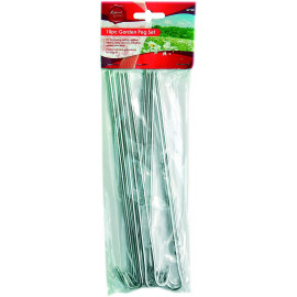 10PC GALVANISED GARDEN PEG SET NETTING ANCHOR SECURE PERFECT FOR SECURING TENTS