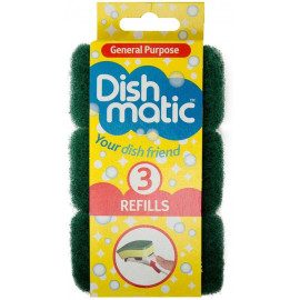 3 Refill Sponges Green Refills are ideal for all general purpose washing up