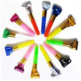 20 x Party Blowers Birthday Loot Bag Filler Foil Noise Toy Christmas Parties OTL