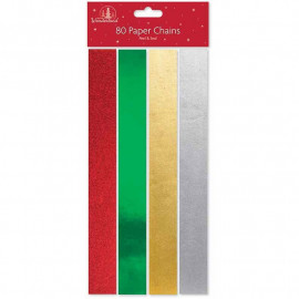 80 Foil Paper Chains, Christmas Decorations as our manufacturer has introduced new pack, quantity of 80