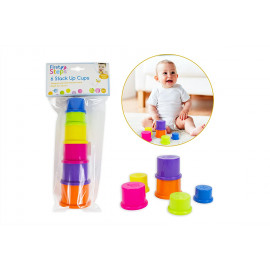 6 Coloured Stack Up Cups - Ideal for 6 Months +