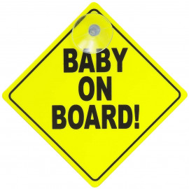 Baby On Board Sign Removable Kids Safety Warning Baby on Board Sticker Sign
