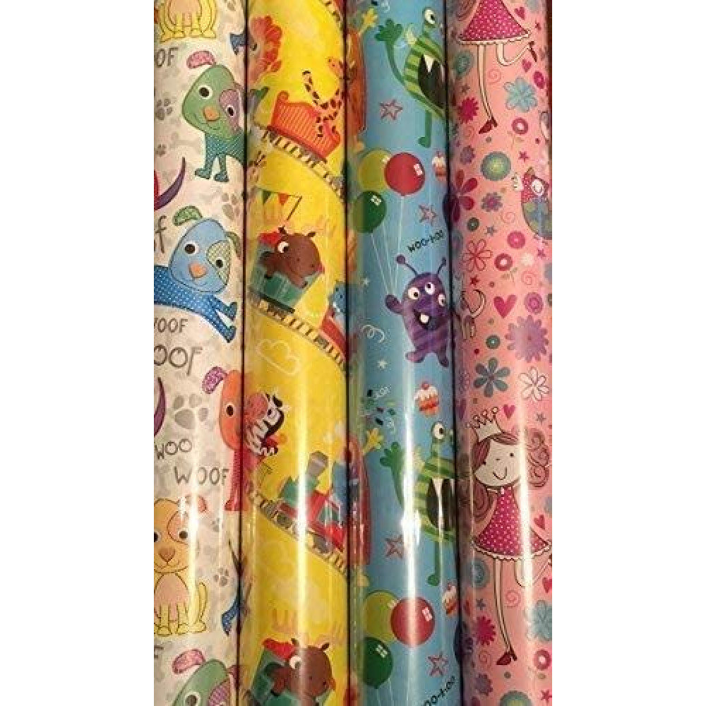 4 x Pack of Gift Wrapping Paper - Happy Birthday