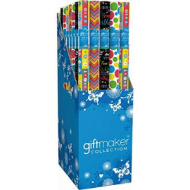 4 x Pack of Gift Wrapping Paper - Happy Birthday Mixed Bright Colours