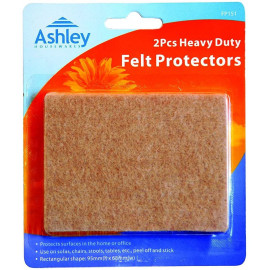 2 Pack Heavy Duty Felt Protectors For use on Sofas, Chairs, Stools, Tables, etc. 95 mm x 68 mm