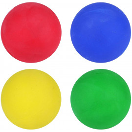 Hard Rubber Dog Balls - Play n Shoot - Red, Green, Yellow & Blue - Pack Of 12