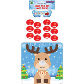 14 PCS STICK THE RED NOSE ON RUDOLPH GAME KIDS PARTY ACTIVITY CHRISTMAS STOCKING FILLER