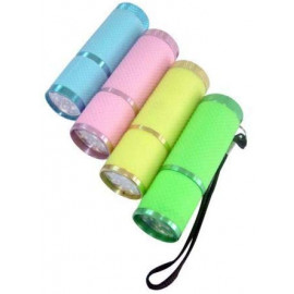 9-LED Glow In The Dark Torch in CDU (colours may vary)