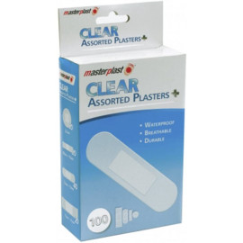 100 x Clear Assorted Plasters - 1st Aid