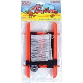 PACK OF 3 - Medium Crab Line With Weight And Net Bag - Summer Beach Fun! (Assorted Colours)