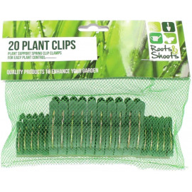 20PC PLANT CLIPS IN NET BAG W/PVC COATED HEADER CARD