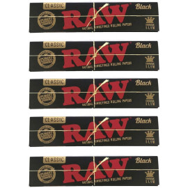 (5X) Black Rolling Papers - White Ash