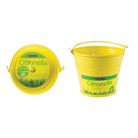 1 X Small Citronella Candle in a yellow Bucket