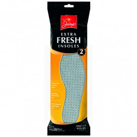 2 PK Extra Fresh Odour Eater Shoe Insoles - Unisex One Size Fits All