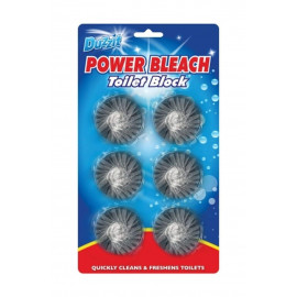 6 Toilet Blue block tablets Quickly cleans & freshens toilets