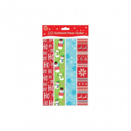 Pack of 80 Printed Creative Christmas Paper Chains - Christmas Party Decoration