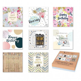 Just To Say Adult Birthday Card (Box of 8)