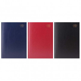 2021 A4 Day to Page Appointment Diary Hardback Casebound Assorted Colour