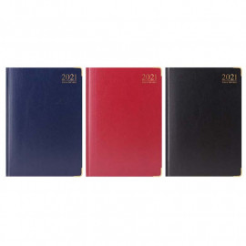 2021 A4 Size Week To View Diary Gilt-Edged ( Assorted Colour)