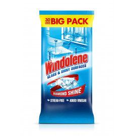 Glass Cleaner Wipes, 30-Count
